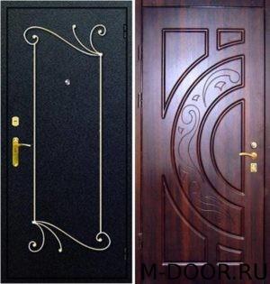Металлическая дверь порошковое напыление с ковкой и МДФ (ПВХ)