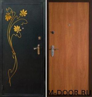 Стальная дверь порошковое напыление с ковкой и Ламинат 4