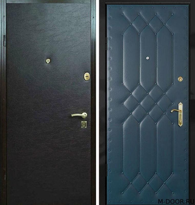 Металлическая дверь с отделкой винилискожа
