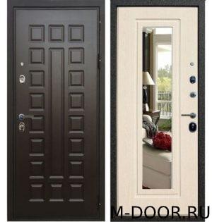 Металлическая дверь МДФ с зеркалом