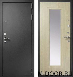 Металлическая дверь порошок и МДФ с зеркалом