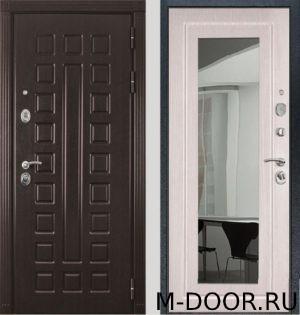 Стальная дверь с отделкой МДФ с зеркалом 5