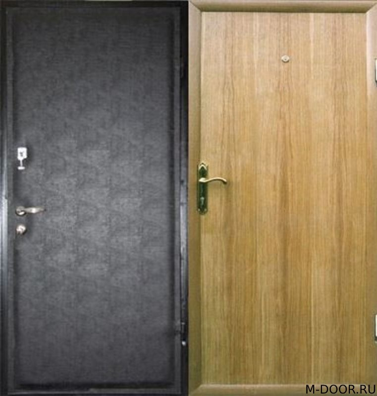 Стальная дверь винилискожа и ламинат