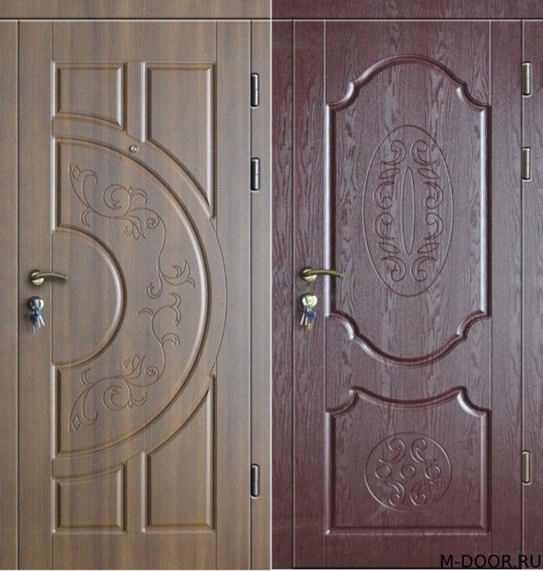 Входная дверь в загородный дом с отделкой МДФ (Винорит)