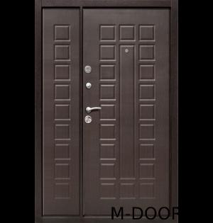 Стальная двустворчатая дверь МДФ с двух сторон 1