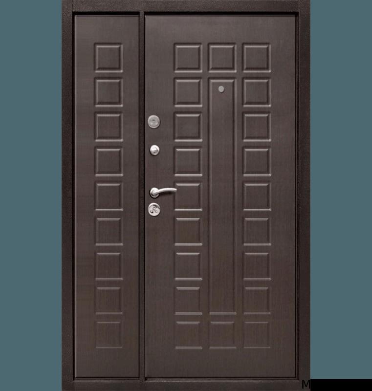 Стальная двустворчатая дверь МДФ с двух сторон