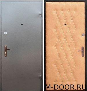 Стальная наружная дверь порошковое напыление и винилискожа дутая 2