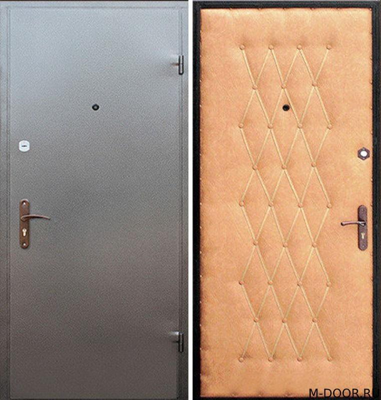 Стальная дверь порошковое напыление и винилкожа(дутая)