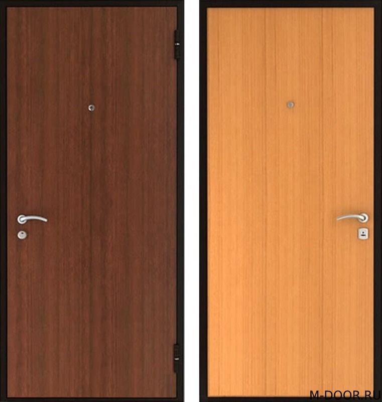 Стальная дверь в квартиру с отделкой ламинат с двух сторон