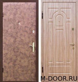 Металлическая дверь с отделкой винилискожа и МДФ 4