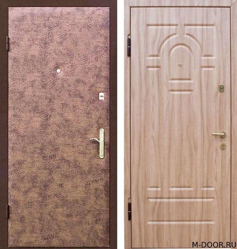 Металлическая дверь с отделкой винилискожа и МДФ