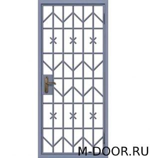 Металлическая решетчатая дверь 4