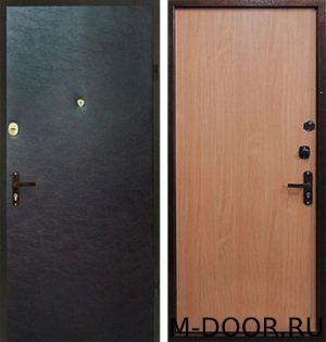 Стальная дверь в офис с отделкой винилискожа и ламинат 4