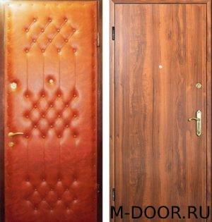Металлическая дверь винилискожа (дутая) и ламинат 3