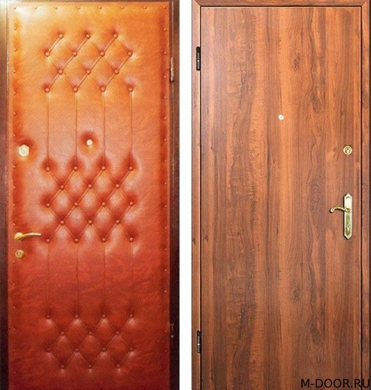 Металлическая дверь винилискожа (дутая) и ламинат