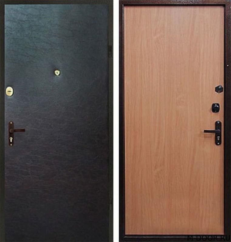 Стальная дверь с шумоизоляцией винилискожа и ламинат