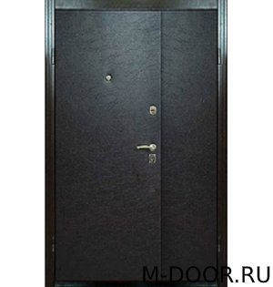 Двустворчатая металлическая дверь с винилискожей