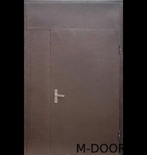 Тамбурная дверь с верхней вставкой порошок и винилискожа 4