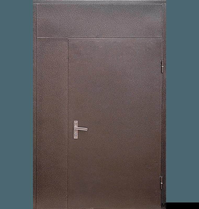 Тамбурная дверь с верхней вставкой порошок и винилискожа