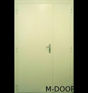 Металлическая тамбурная дверь нитроэмаль и винилискожа 1
