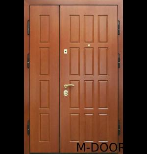 Двустворчатая дверь МДФ и винилискожа 2