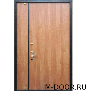 Входная тамбурная дверь с отделкой ламинат и винилискожа