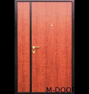 Стальная тамбурная дверь с ламинатом и винилискожей