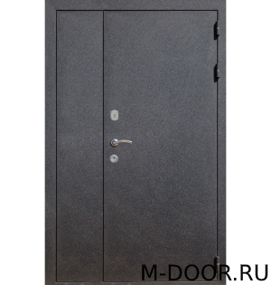 Стальная тамбурная дверь порошковое напыление и винилискожа
