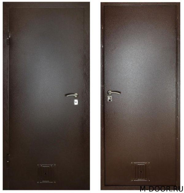 Техническая дверь с решеткой купить на заказ недорого