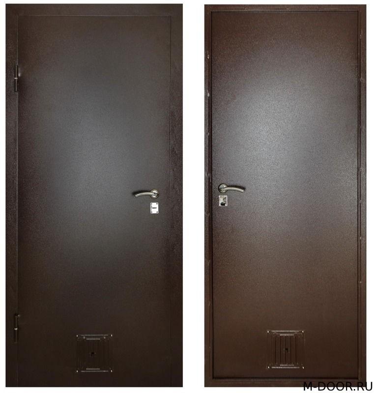 Техническая дверь с решеткой