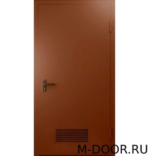 Техническая дверь с решеткой внизу