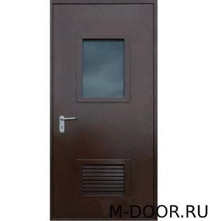 Техническая дверь (решетка+стекло)
