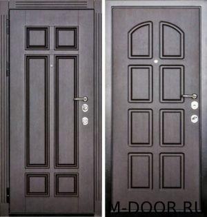 Стальная дверь с терморазрывом филенка и МДФ Винорит 3