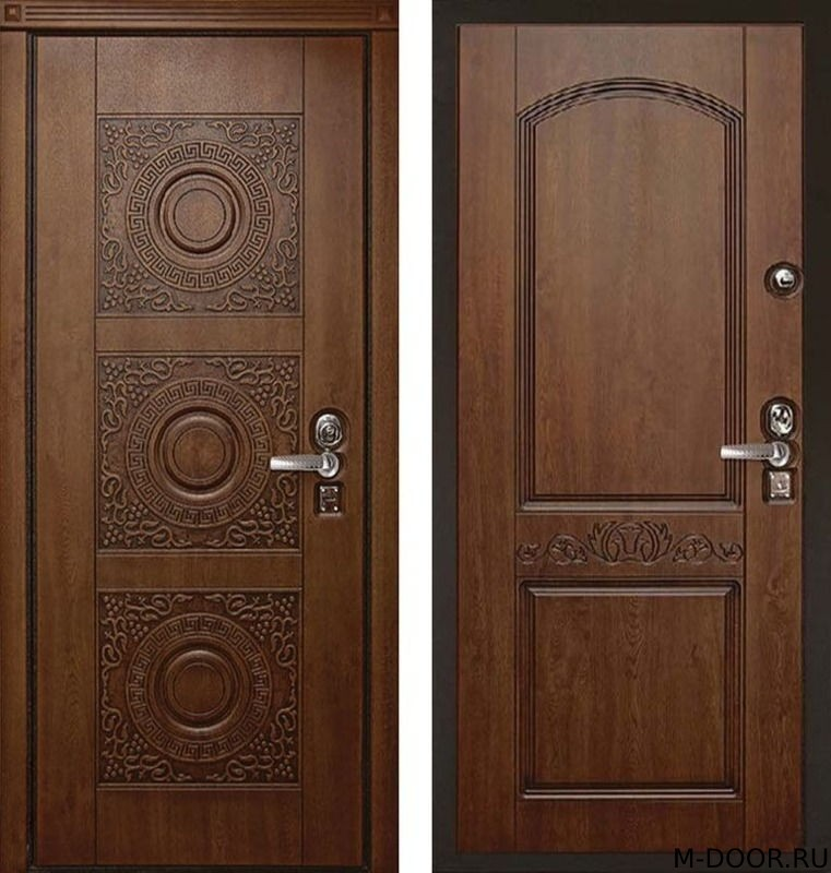 Стальная дверь с терморазрывом МДФ Винорит с двух сторон