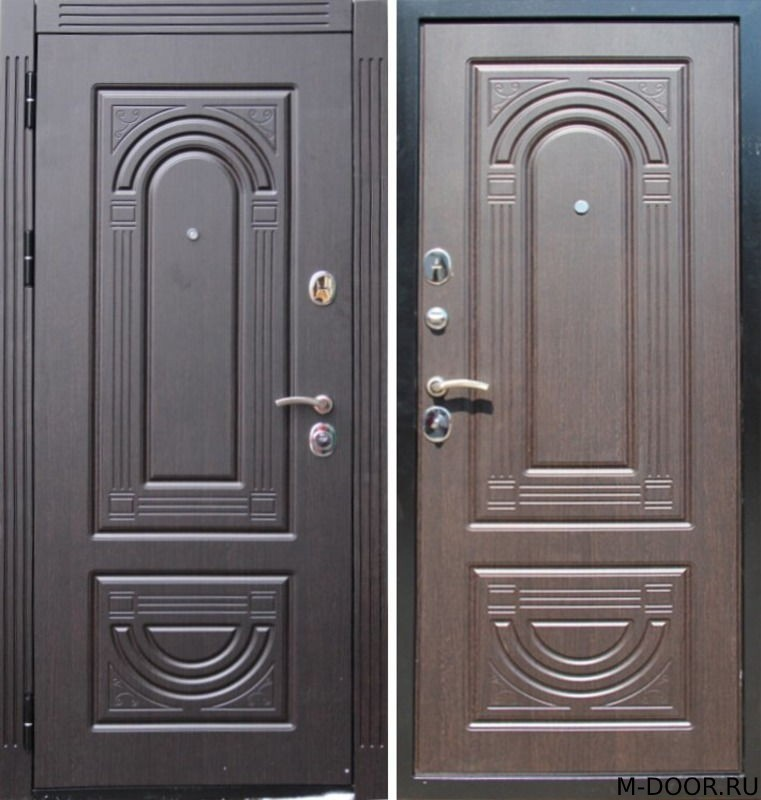 Входная стальная дверь с отделкой МДФ(ПВХ) с двух сторон