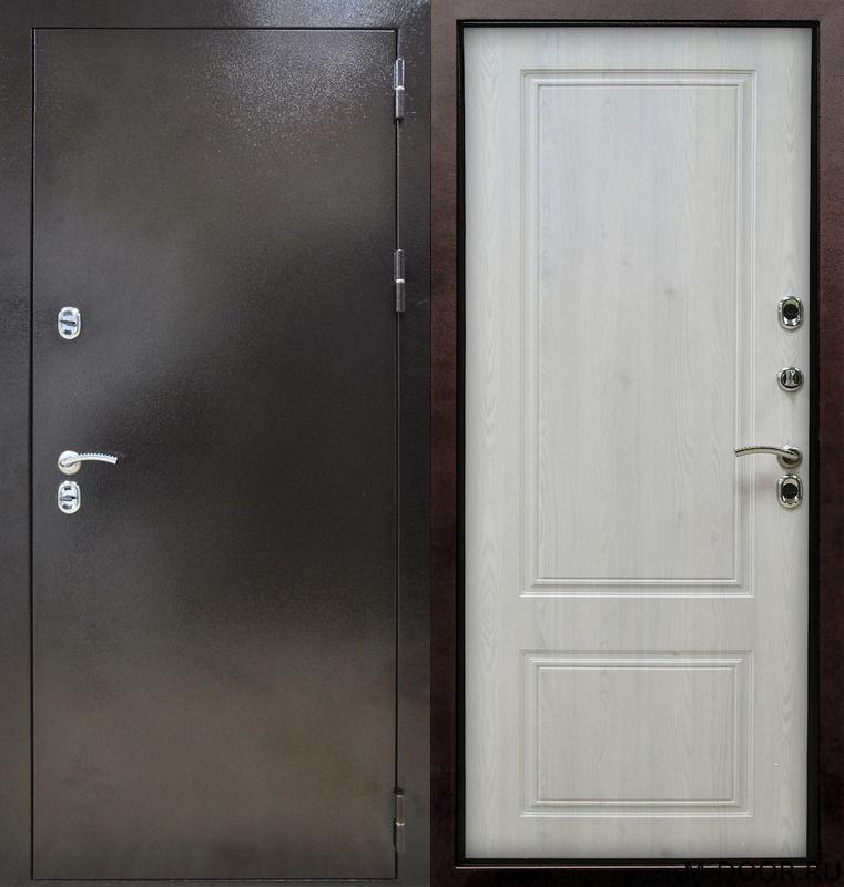 Стальная дверь с терморазрывом порошковое напыление и МДФ