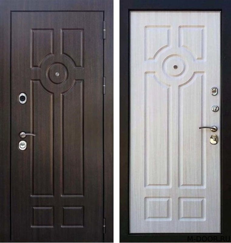 Входная стальная дверь МДФ с двух сторон