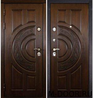 Стальная дверь с терморазрывом с отделкой МДФ Винорит