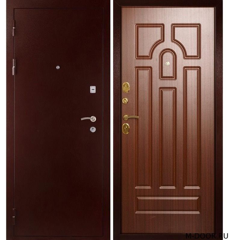 Стальная дверь с шумоизоляцией порошковое напыление и МДФ