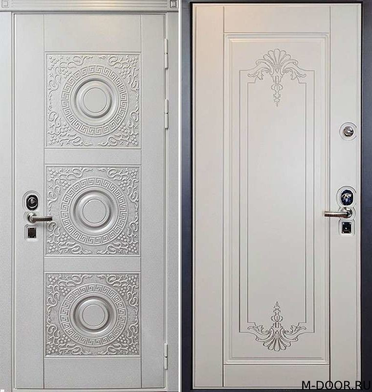 Стальная трехконтурная дверь МДФ(Vinorit) с двух сторон