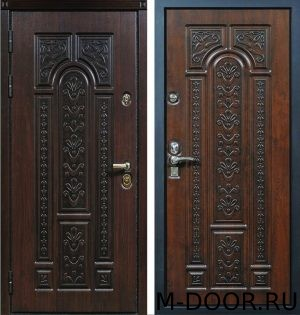 Металлическая трехконтурная дверь МДФ(Vinorit) 1