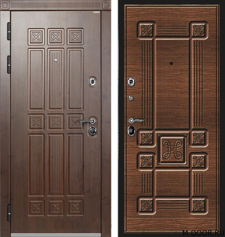 Металлическая дверь с отделкой МДФ (Vinorit)