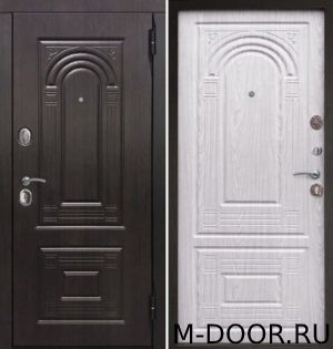 Металлическая дверь в коттедж с отделкой МДФ с двух сторон 6