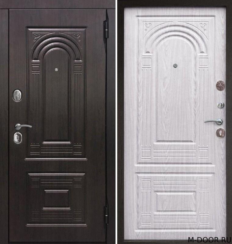 Металлическая трехконтурная дверь МДФ с двух сторон