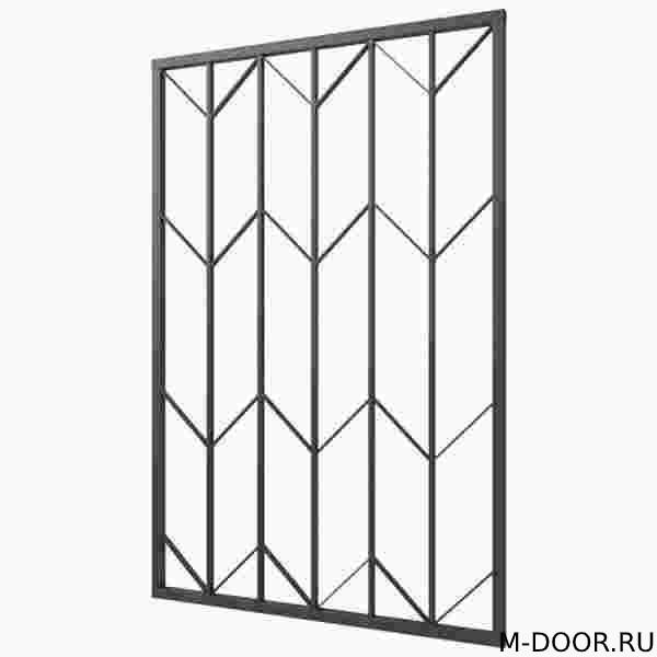 Сварная решетка на балкон 008