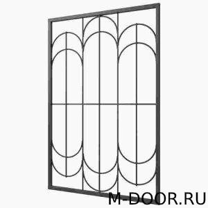 Железная решетка на окна в квартиру на заказ