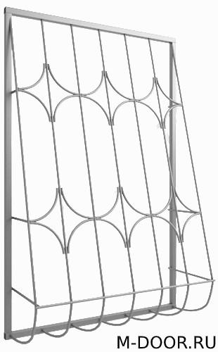 Дутая металлическая решетка на окна 026
