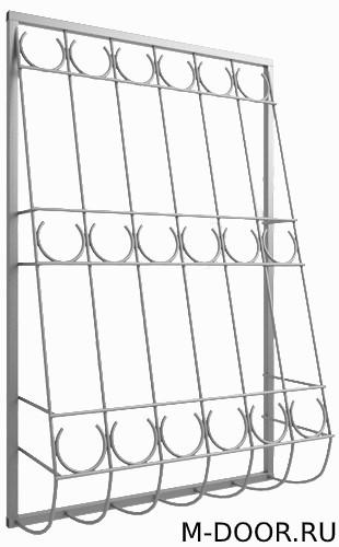 Дутая решетка металлическая 043