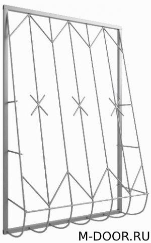 Дутая решетка на окно 002