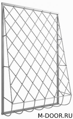 Дутая стальная решетка на окна 017